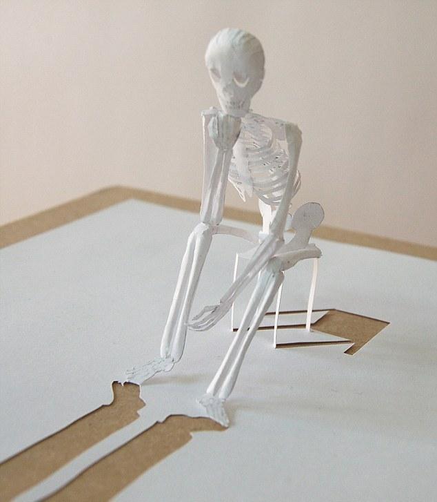 такой скелет из бумаги.