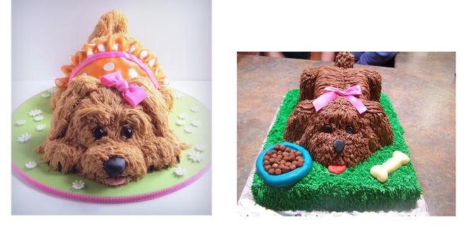 Торт украшение собака