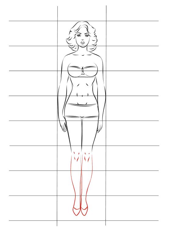 Рисунки девушки в полный рост поэтапно