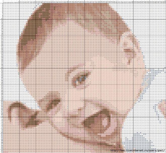 Вышивка крестом дети схемы фото