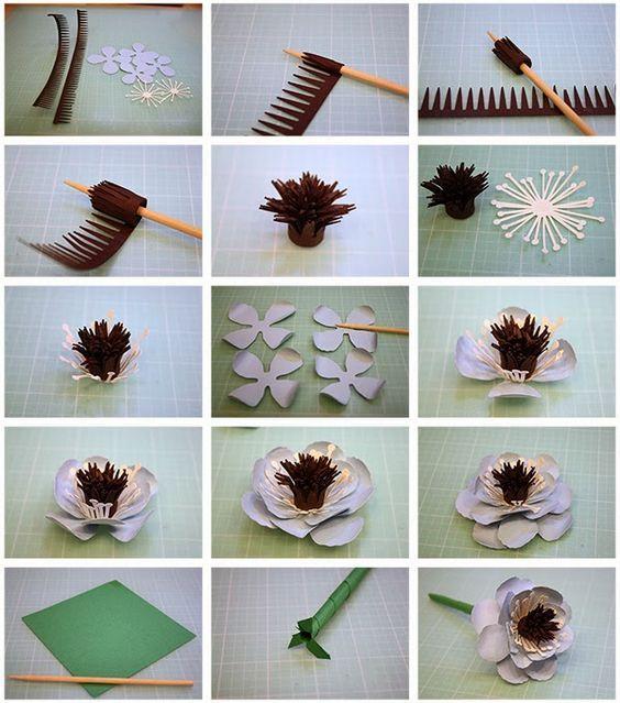 цветы для открытки своими руками