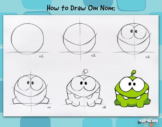 Как нарисовать няма ама поэтапно карандашом
