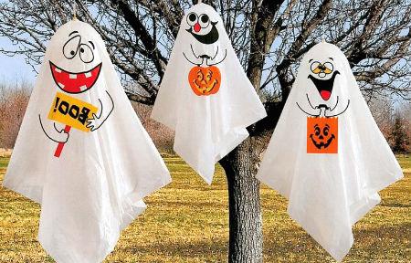 Как сделать оконные страшилки на Хэллоуин своими руками, с детьми?