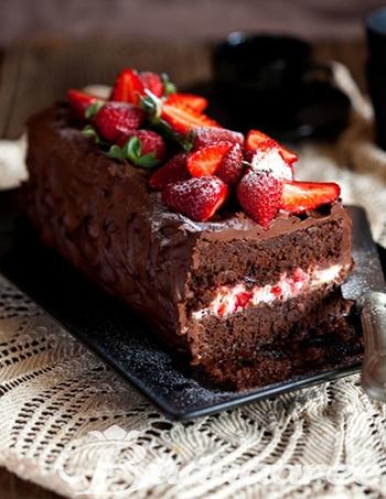 Торты с клубникой и шоколадом рецепт