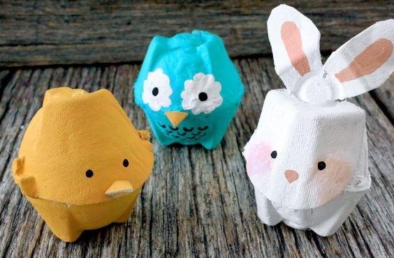 Поделки из бумажной упаковки для яиц 89