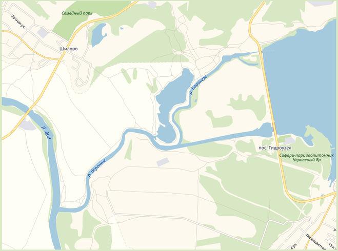 Где Воронеж впадает в реку Дон?