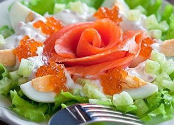 закуска из яиц и икры