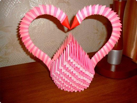 Модульное оригами сердечко мастер класс