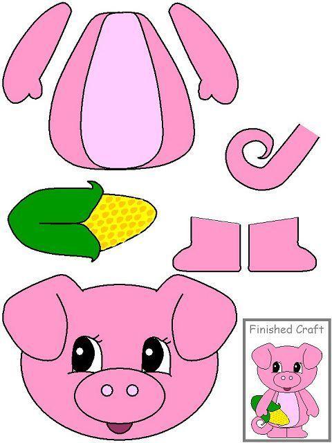 аппликация свинья поросенок