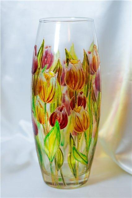Рисунки на вазу своими руками