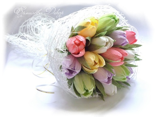 Букет из конфет мастер-класс тюльпаны