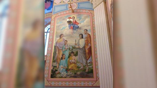 фреска порошенко с семьей