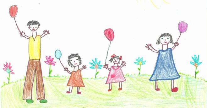 Что нарисовать ко дню защиты детей поэтапно