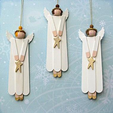 Ангел на Рождество и Новый год из палочек от мороженого