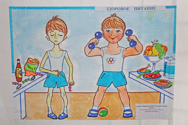 рисунок здоровый образ жизни спорт