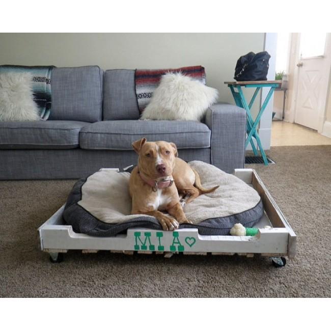 как сделать пышный лежак для собаки