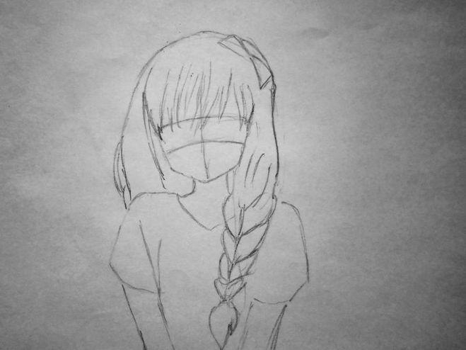 Рисуем девушку с парням поэтапно