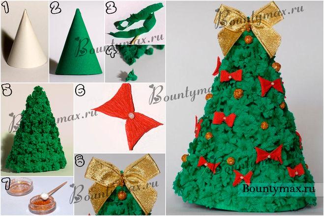 Как делать из бумаги поделку на новый год