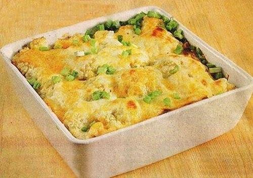 цветная капуста запеченная с фаршем и сыром в духовке