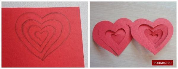 Поделки из бумаги без клея сердце
