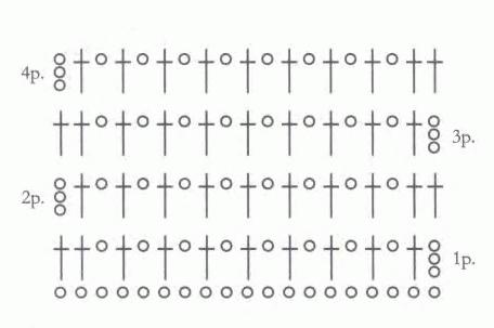 Сетка крючком со схемой