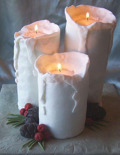 Красивая свеча на торт своими руками 13