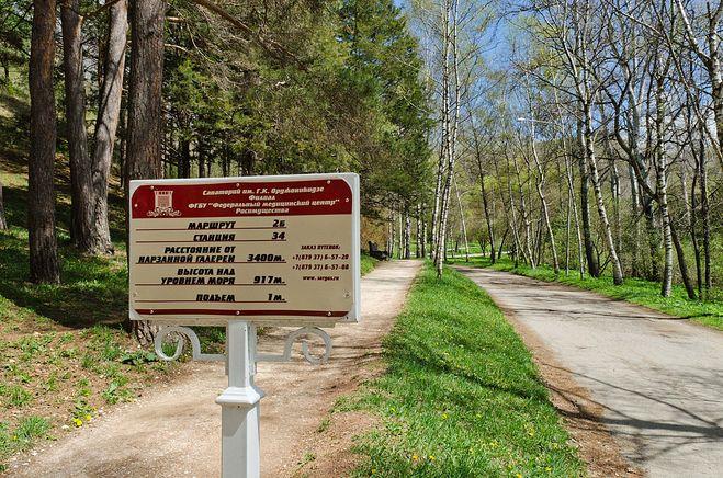 В парке Кисловодска
