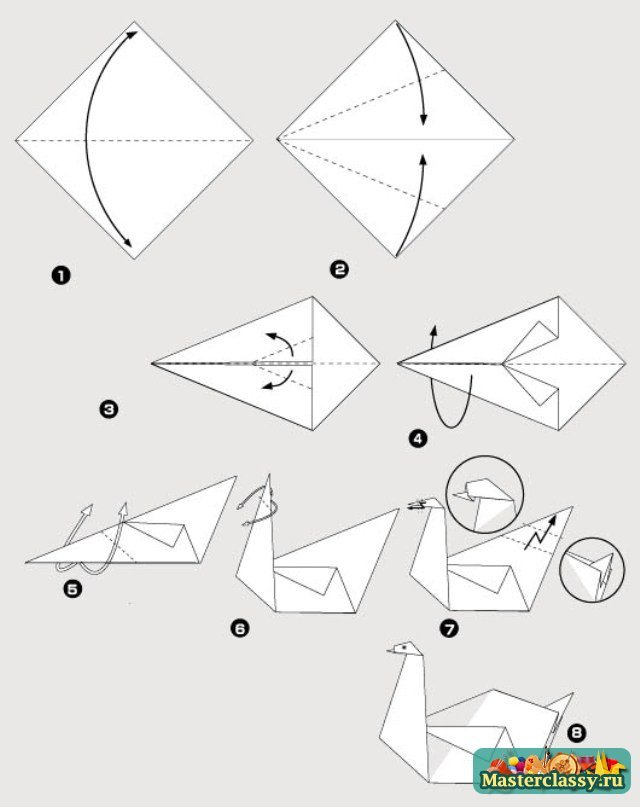 Как сделать легкого лебедя 726