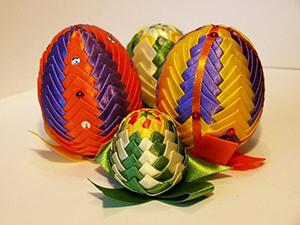 """яйца на Пасху """"артишок"""" из ткани"""