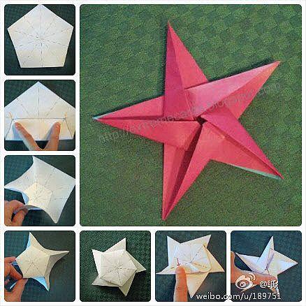 Звезда из бумаги оригами своими руками