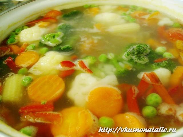 Суп диетический овощной в мультиварке рецепт с фото