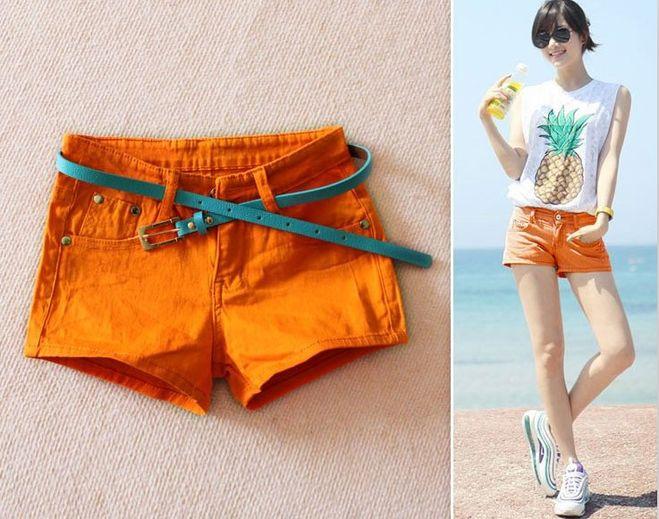 С чем одеть оранжевые шорты