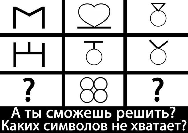 каких символов не хватает?