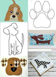 собака из ткани