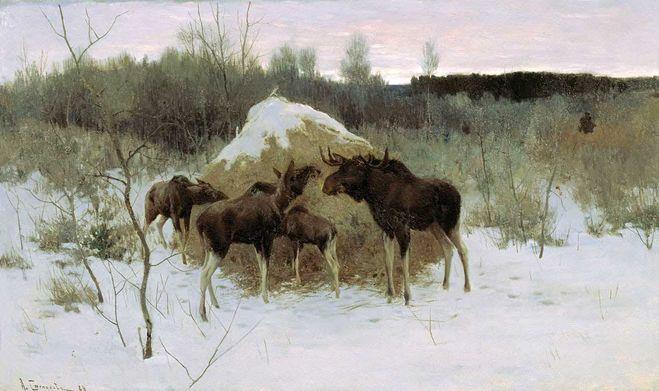 сочинение по картине Степанова Лоси