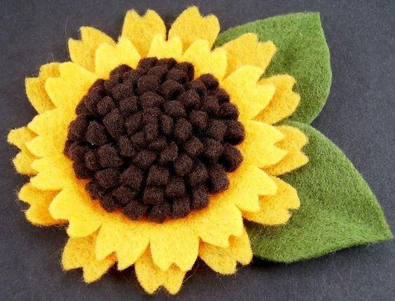 цветы из фетра своими руками подсолнух