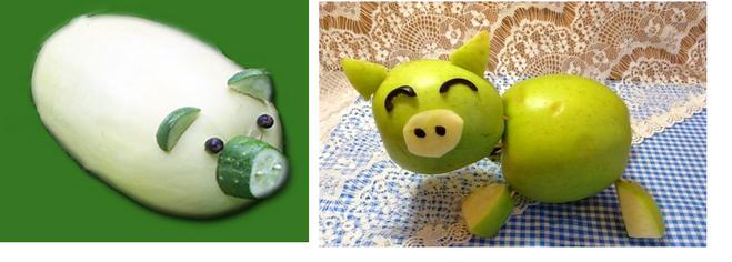 Поделка из зеленого яблока