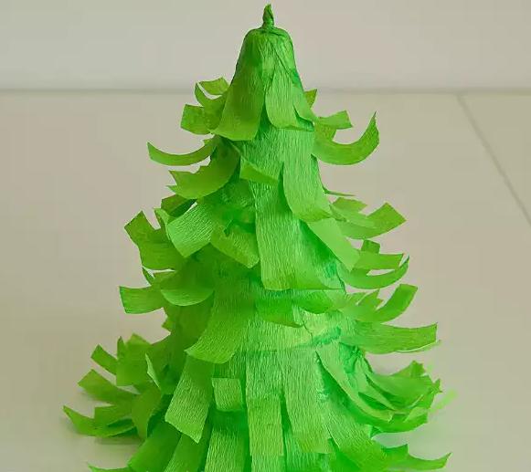 Как сделать елку из бумаги своими руками объемную 6