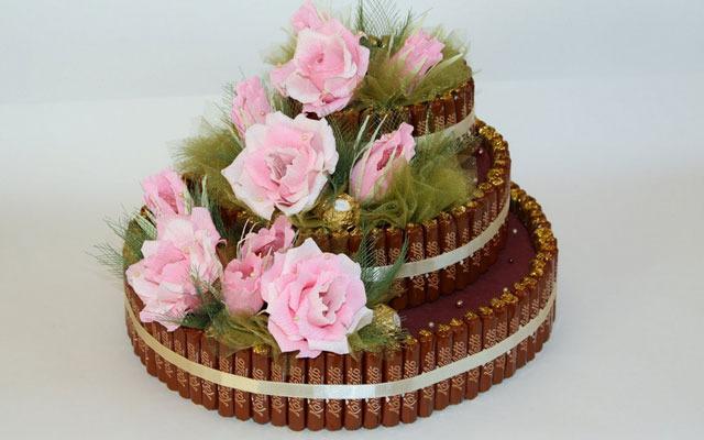 Подарки на годовщину свадьбы из конфет