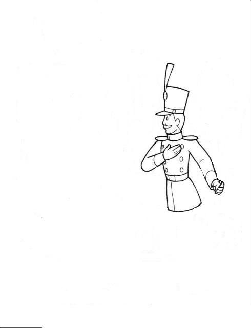 Как нарисовать оловянного солдатиков поэтапно