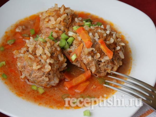Как сделать мясные ежики с рисом