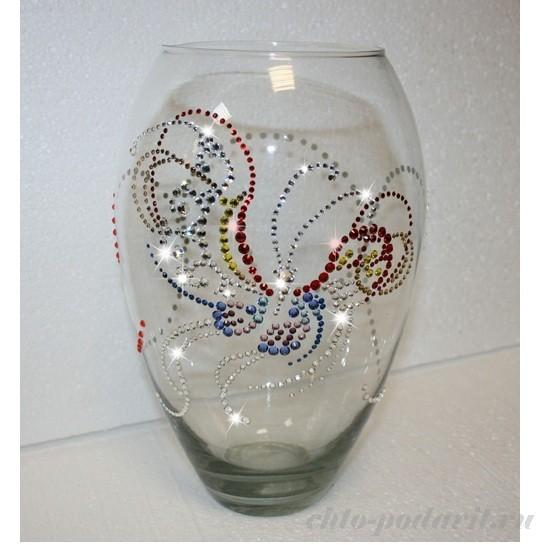 Украшения стеклянных ваз своими руками