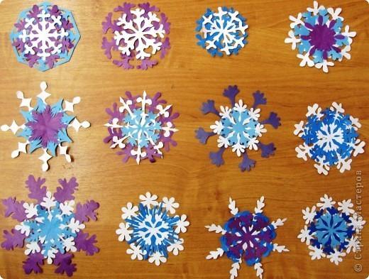 Зима снежинки своими руками