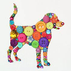 собака из пуговиц своими руками
