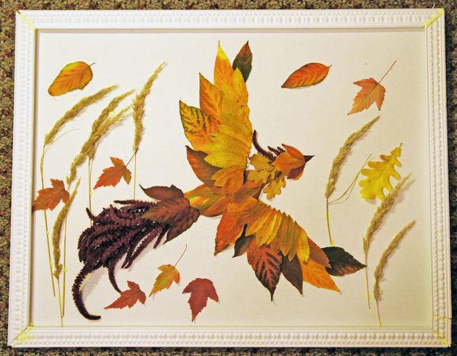птицы из листьев