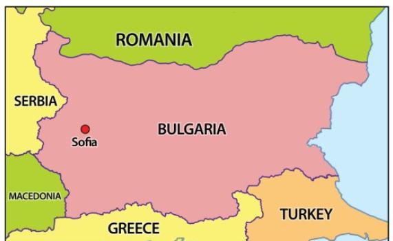 Болгария где находится на карте