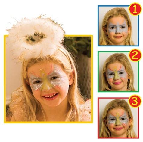 Рисунок на лице детям поэтапно