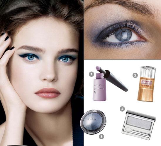 Какие тени подходят к серо голубым глазам