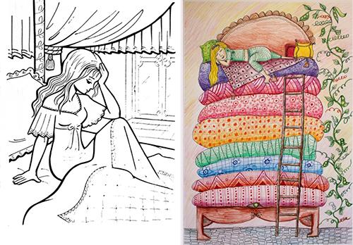 Принцесса на горошине - рисунки к сказкам Андерсена Г. Х.