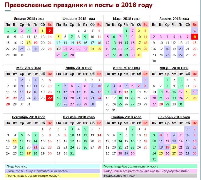 Программа православный календарь 2018 скачать бесплатно